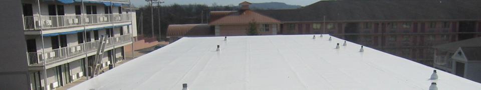 single-ply membrane banner